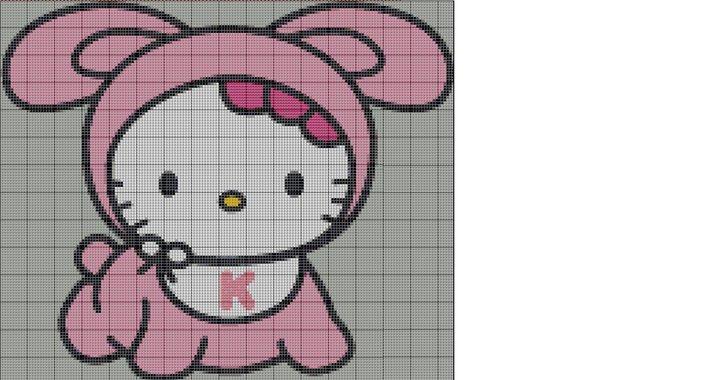Hello Kitty en punto de cruz gratis  Imagui